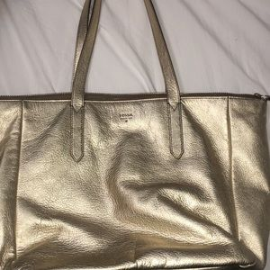 Gold Fossil Purse